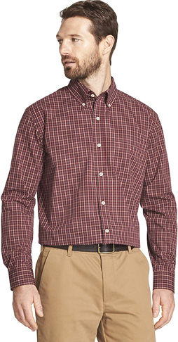 6. Arrow 1851 Men's Hamilton Poplins Button Down Shirt - Preferred