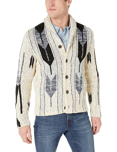 10. Lucky Brand Men's Button Up Shawl Collar Cardigan Sweater