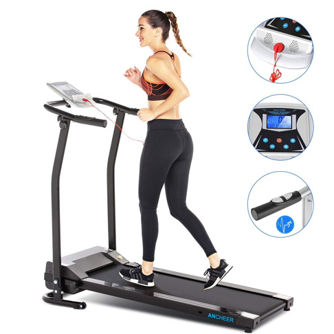 4. ANCHEER Pulse Rate Treadmill for Home with LCD -Preferred
