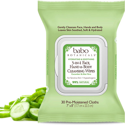 9. Babo Botanicals 3-in-1 Body Wipes