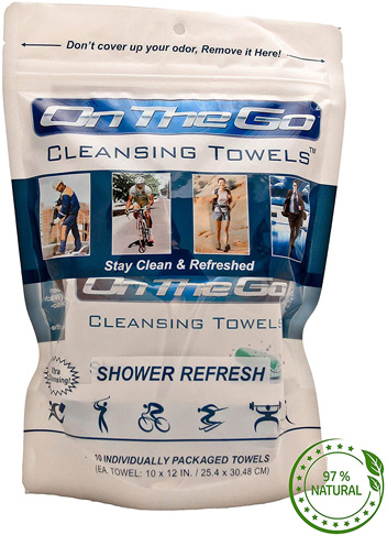 7. On The Go Towels Shower Large Body Wipes (10)
