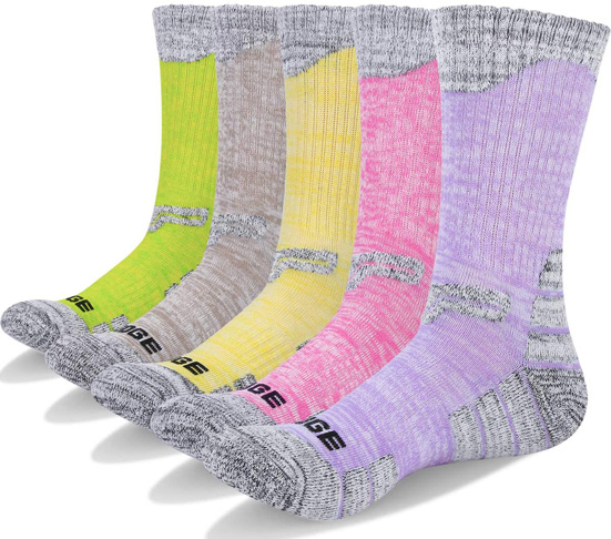 5. YUEDGE 5 Pairs Women's Athletic Hiking Socks - Preferred
