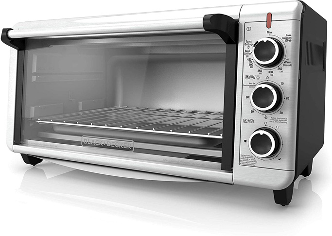 8. BLACK+DECKER Convection Countertop Toaster Oven (TO3240XSBD)