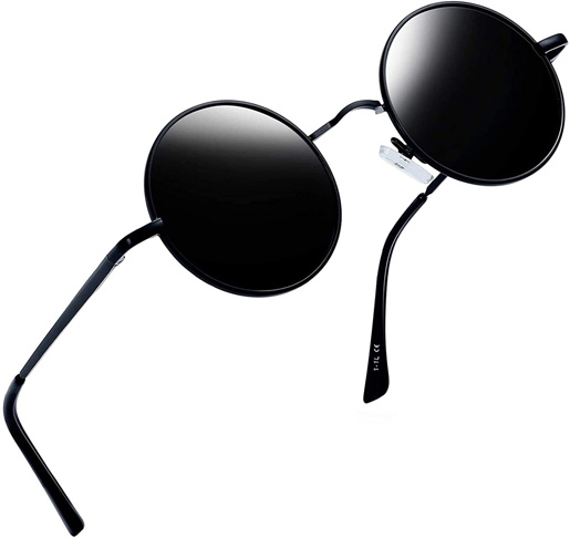 2. Joopin Round Retro Polaroid Driving Sunglasses -Preferred