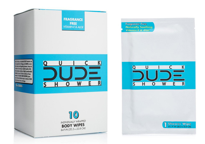 2. DUDE Cleansing Cloths for Men -Preferred
