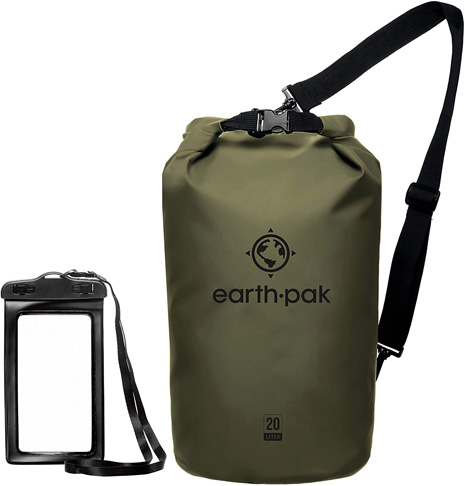 1. Earth Pak Dry Bag with Waterproof Phone Case -Preferred