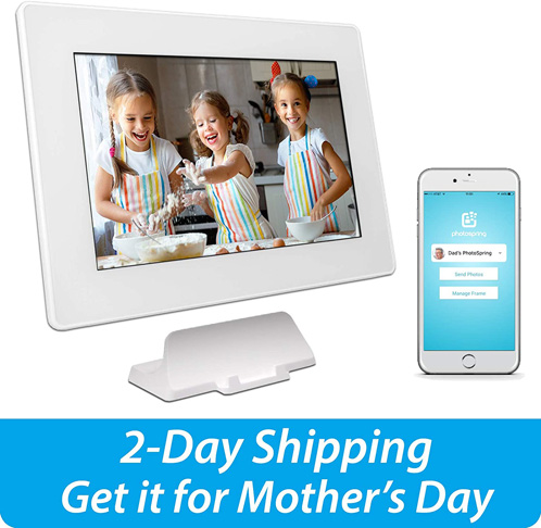 5. PhotoSpring 10-inch WiFi Digital Picture Frame