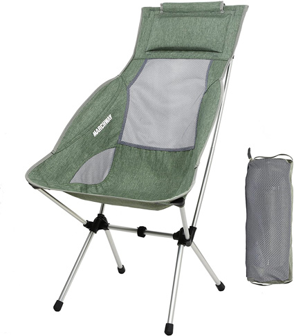 2. MARCHWAY Lightweight Folding High Back Camping Chair - Preferred