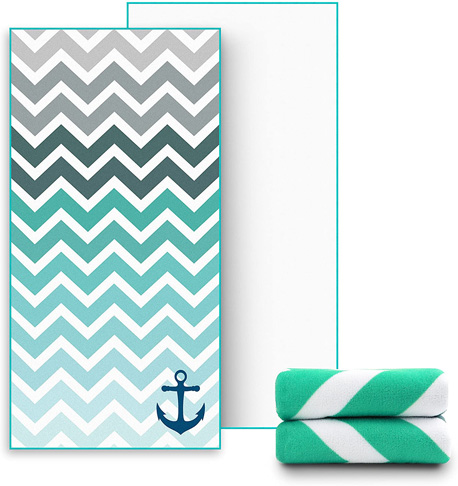 6. Ricdecor Large Beach Blanket Towel -Preferred