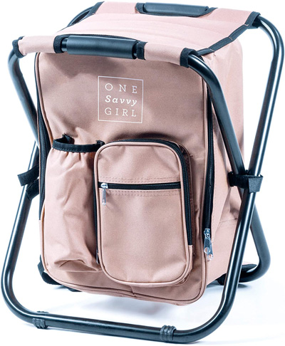 3. One Savvy Girl Ultralight Backpack Cooler Chair