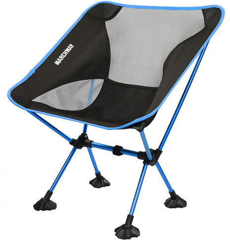5. MARCHWAY Ultralight Folding Camping Chair (Sky Blue) - Preferred