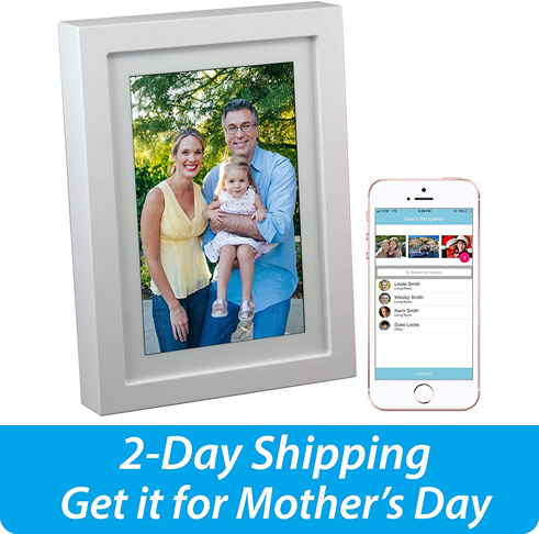 9. PhotoSpring 8-inch WiFi Cloud Digital Picture Frame