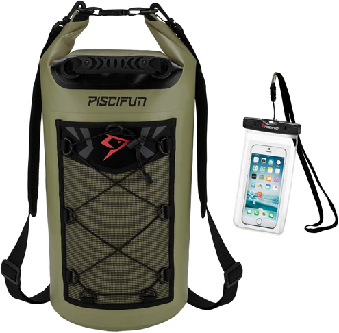 6. Piscifun Waterproof Dry Bag Backpack