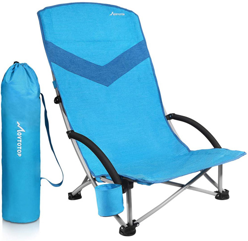 7. MOVTOTOP 2020 Newest Folding Camping Beach Chair - Preferred