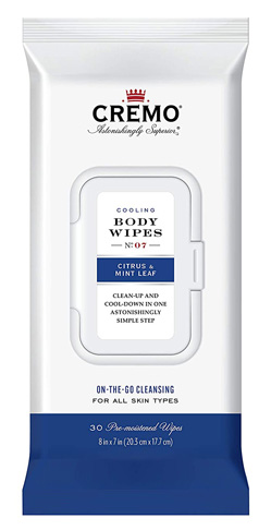 8. Cremo Cooling Men's Body Wipes