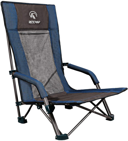 10. REDCAMP Low Beach Folding Sand Chairs