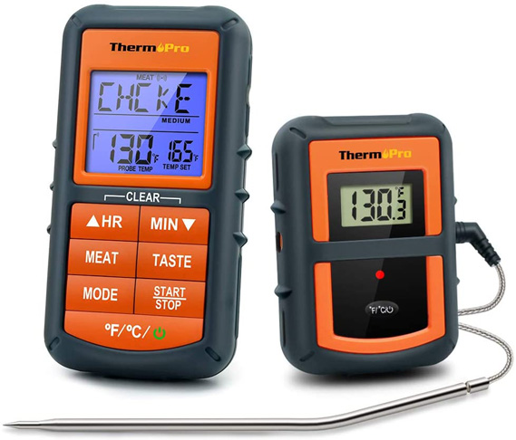 1. ThermoPro TP-07 Wireless BBQ Meat Thermometer for Grilling