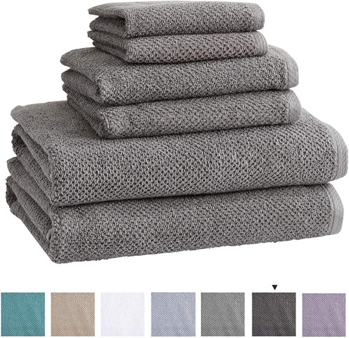 6. Great Bay Home 100% Cotton Bath Towels