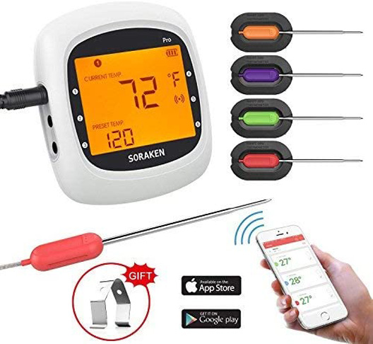5. Soraken Wireless Meat Thermometer for Grilling -Preferred