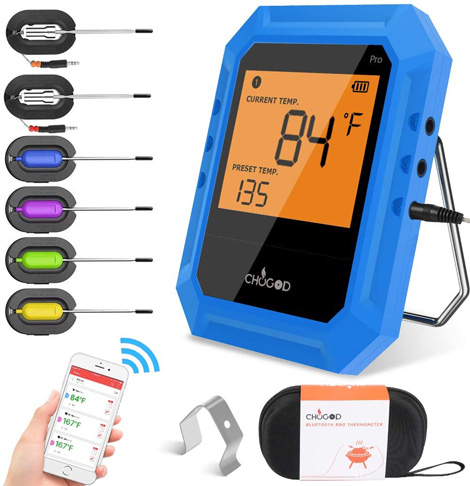 10. Chugod Wireless Bluetooth Meat Thermometer
