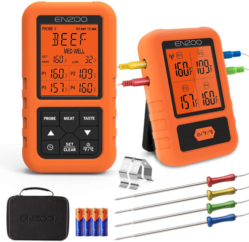 7. Cadence ENZOO Wireless Meat Thermometer for Grilling -Preferred