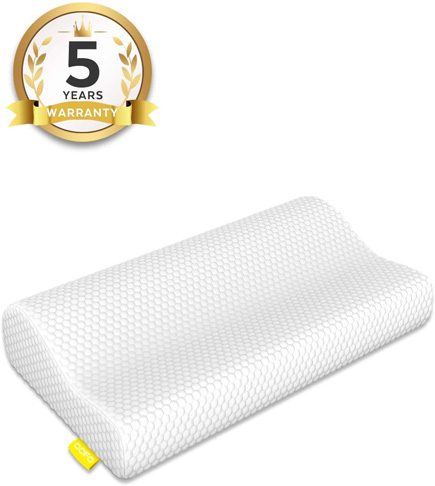 7. OOFO Memory Foam Pillow for Neck and Shoulder Pain -Preferred