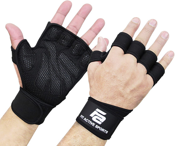 1. Fit Active Sports New Ventilated Weight Lifting Gloves