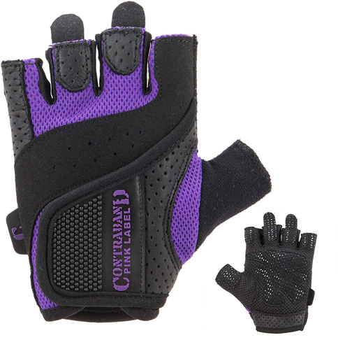4. Contraband Pink Label Womens Padded Weight Lifting Gloves (Pair) - 5137