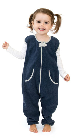 6. Baby deedee Fleece Sleep Sack with Feet, Navy -Preferred