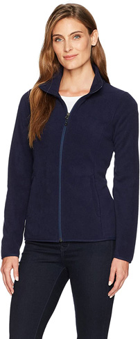 2. Amazon Essentials Women's Classic Fit Long-Sleeve Full-Zip Fleece Jacket