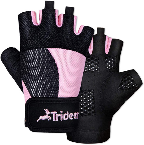 7. Trideer Breathable Weight Lifting Workout Gloves Women - Preferred