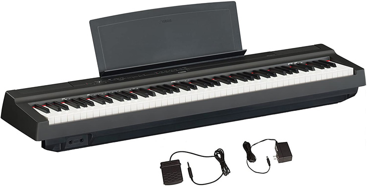 3. Yamaha P125 88-Key Digital Piano, Black -Preferred