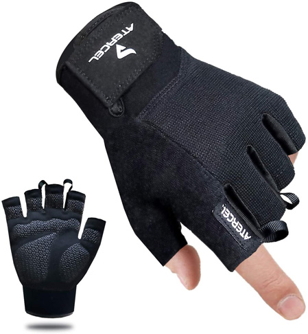 5. Atercel Best Exercise Workout Gloves for Weight Lifting