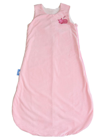 7. 1st Laugh Minky Winter Sleeping Sack (Pink, Large)
