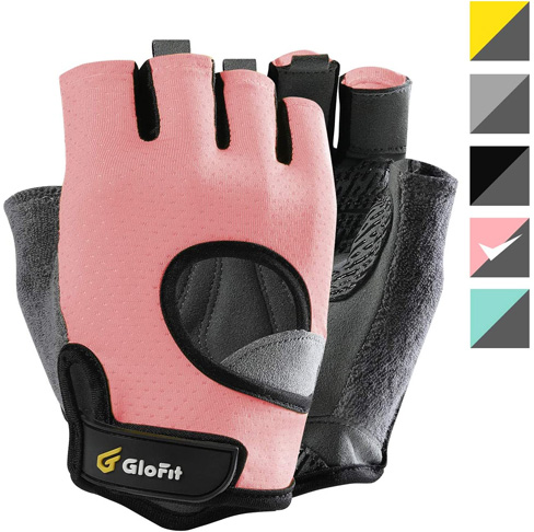 6. Glofit Weight Lifting Gloves Shorty Fingerless with Curved Open Back - Preferred