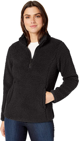 7. Amazon Essentials Women's Polar Fleece Lined Quarter-Zip Jacket
