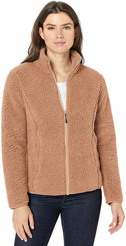 4. Amazon Essentials Women's Polar Fleece Lined Full-Zip Jacket