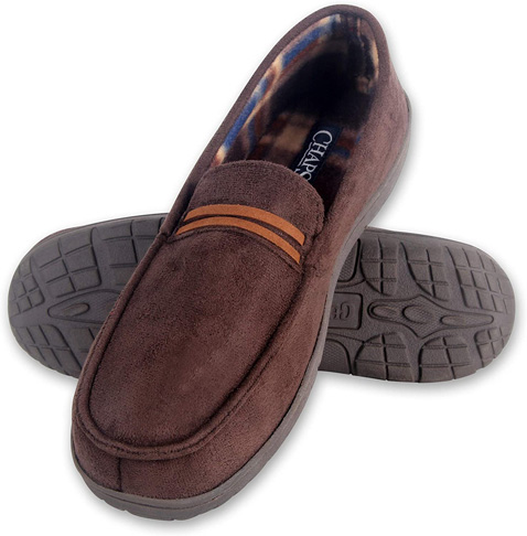 5. Chaps Men's Slipper Moccasin House Shoe