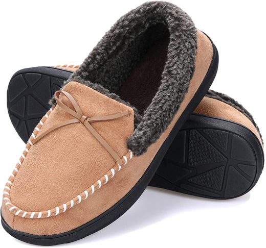 6. mysoft Anti-Slip Sole Men's House Shoes