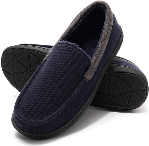 9. MIYA Indoor Outdoor Anti Skid Moccasin Slippers - Preferred