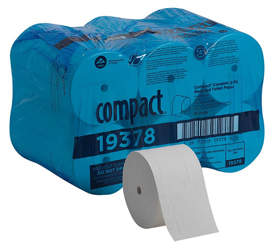 10 Georgia-Pacific Coreless 2-Ply Recycled Toilet Paper