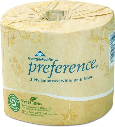 9. Georgia-Pacific Preference 2-Ply Embossed Toilet Paper