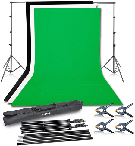 8. Emart Photo Video Studio Background Backdrop Stand Kit