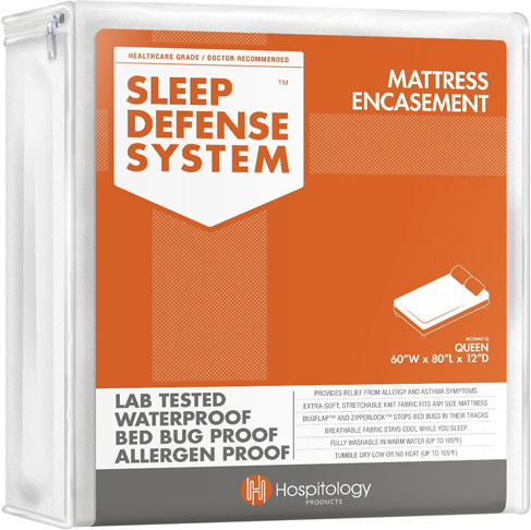 2. HOSPITOLOGY PRODUCTS Sleep Defense System - Zippered Mattress Encasement -Preferred