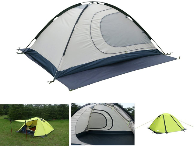 6. Luxe Tempo 2 Person 4 Season Tents Freestanding for Backpacking