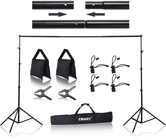 2. Emart 8.5 x 10 ft Photo Backdrop Stand -Preferred