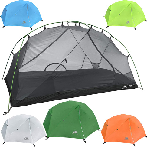10. Hyke & Byke Zion 1 and 2 Person Backpacking Tents with Footprint -Preferred