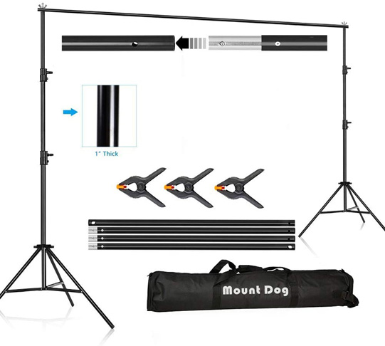 3. MOUNTDOG 10x6.5ft Backdrop Support Stand Kit