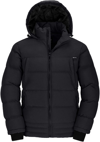5. Wantdo Puffer Insulated Warm Jacket Men's with Hood -Preferred