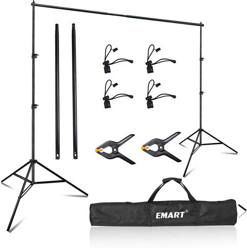 7. Emart Photo Video Studio 8 x 8 ft Backdrop Stand -Preferred